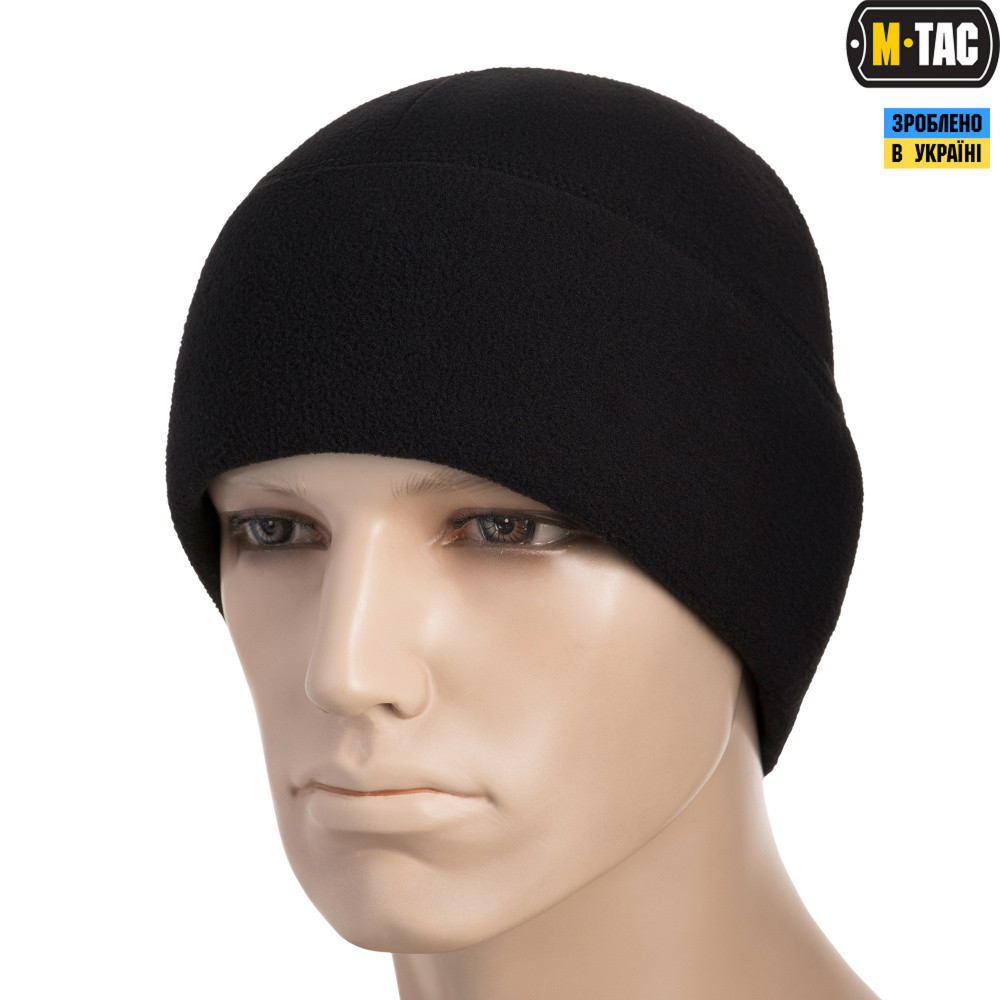 M-Tac шапка Watch Cap Elite фліс (340г/м2) with Slimtex Black