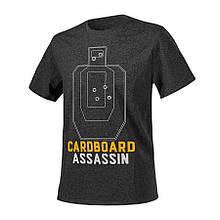 Футболка CARDBOARD ASSASSIN - Black/Grey Melange