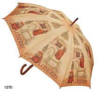Зонт - трость женский Лондон в стиле ретро, фото 1