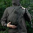 M-Tac рюкзак однолямочный Armadillo Black, фото 6