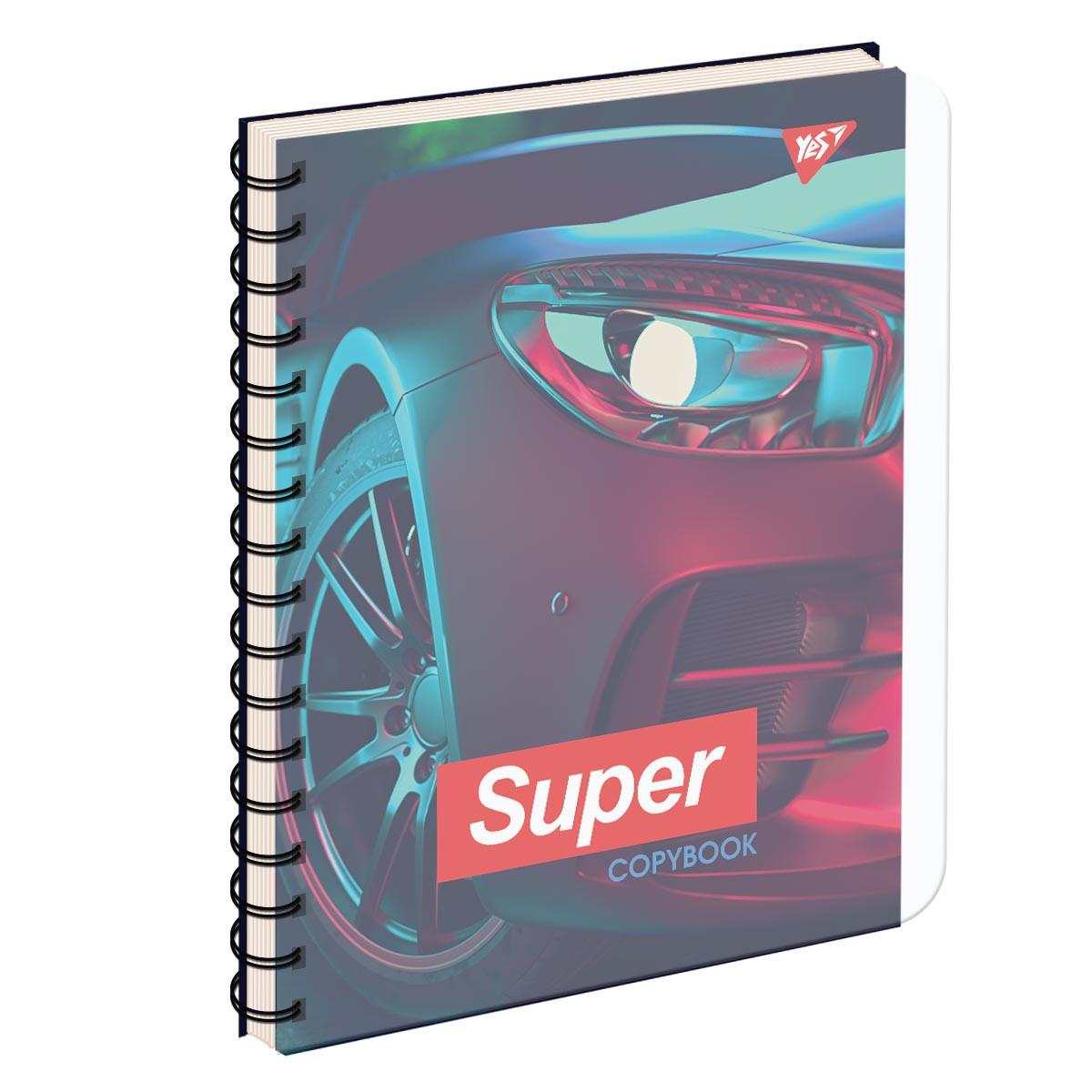 Тетрадь для записей А5/144 пл.обл. SUPER CAR YES код: 681660