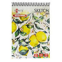 "Альбом для акварели SANTI ""Floristics"", А5, ""Paper Watercolour Collection"", 12л.,200 г/м2 код: 742605"