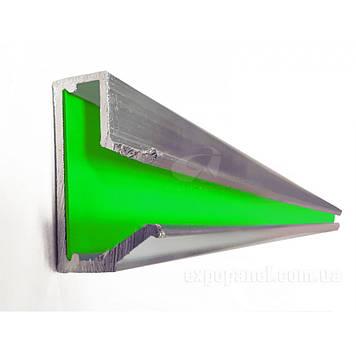 Вставка в Т-паз, алюминиевая с цветным вкладышем Зелёный, 1000