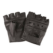 Тактичні рукавички шкіряні без пальців