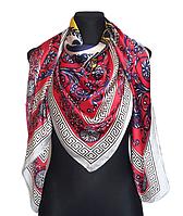 Шелковый платок Fashion Кремона 135*135 см красный, фото 1