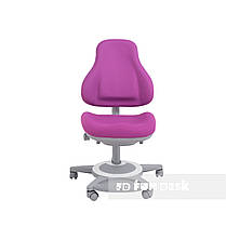 Детский комплект стол-трансформер FunDesk Libro Grey + универсальное кресло FunDesk Bravo Purple, фото 3