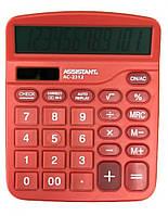 Калькулятор Assistant AC 2312 красный