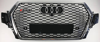 Решетка радиатора Audi Q7 4M (16-19) стиль RSQ7 (хром рамка)