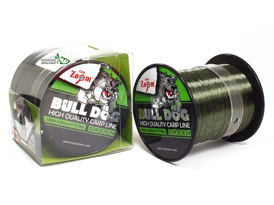 Леска Carp Zoom Bull-Dog Carp Line 1000м 0,35мм зеленая