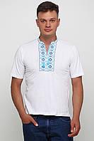 Вышитая футболка мужская Белая М-614-2