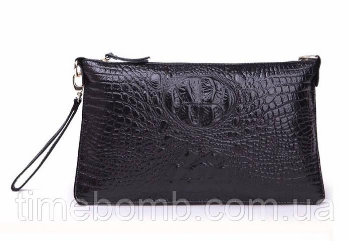 Женская кожаная  сумка клатч Bossir Croсodile тип-2