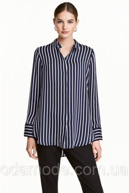 Блуза женская синяя в полоску h&m