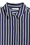 Блуза женская синяя в полоску h&m, фото 2