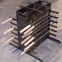 Мангал Эко вертикальный разборной + 10 шампуров и сумка-чехол (сталь 3 мм)