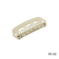 Кліпси HC-02 металеві для нарощування волосся на тресс, кріплення пасм