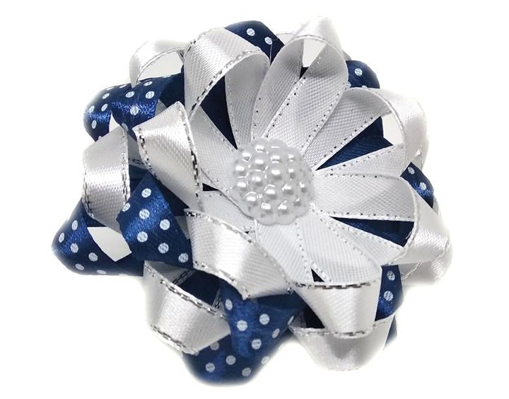 Резинка цветок на голову для школьницы 10 шт