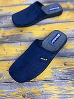 Мужские тапочки темно-синий Inblu 42,43,45  размер в размер.Классика от Инблу.