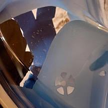 Маска для дайвинга Tribord Easy, для снорклинга с креплением камеры Большая L\XL голубая (Живые фото), фото 2