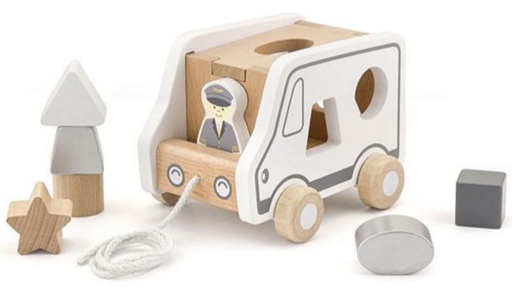 Іграшка-каталка Машинка-сортер Viga toys(51612)