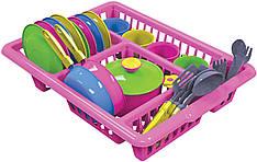 Игровой набор ТехноК Кухонный 5 Розовый