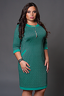 Красивое женское платье из трикотажа, размеры 46 - 58