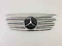 Решетка радиатора Mercedes E-class W210 2000-2002год CL Silver