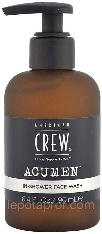 Гель для умывания лица In Shower Face Wash American Crew ACUMEN, 190 ml