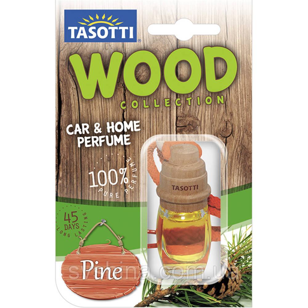 Ароматизатор пробковый на зеркало Tasotti Wood Pine (Елка) 7ml