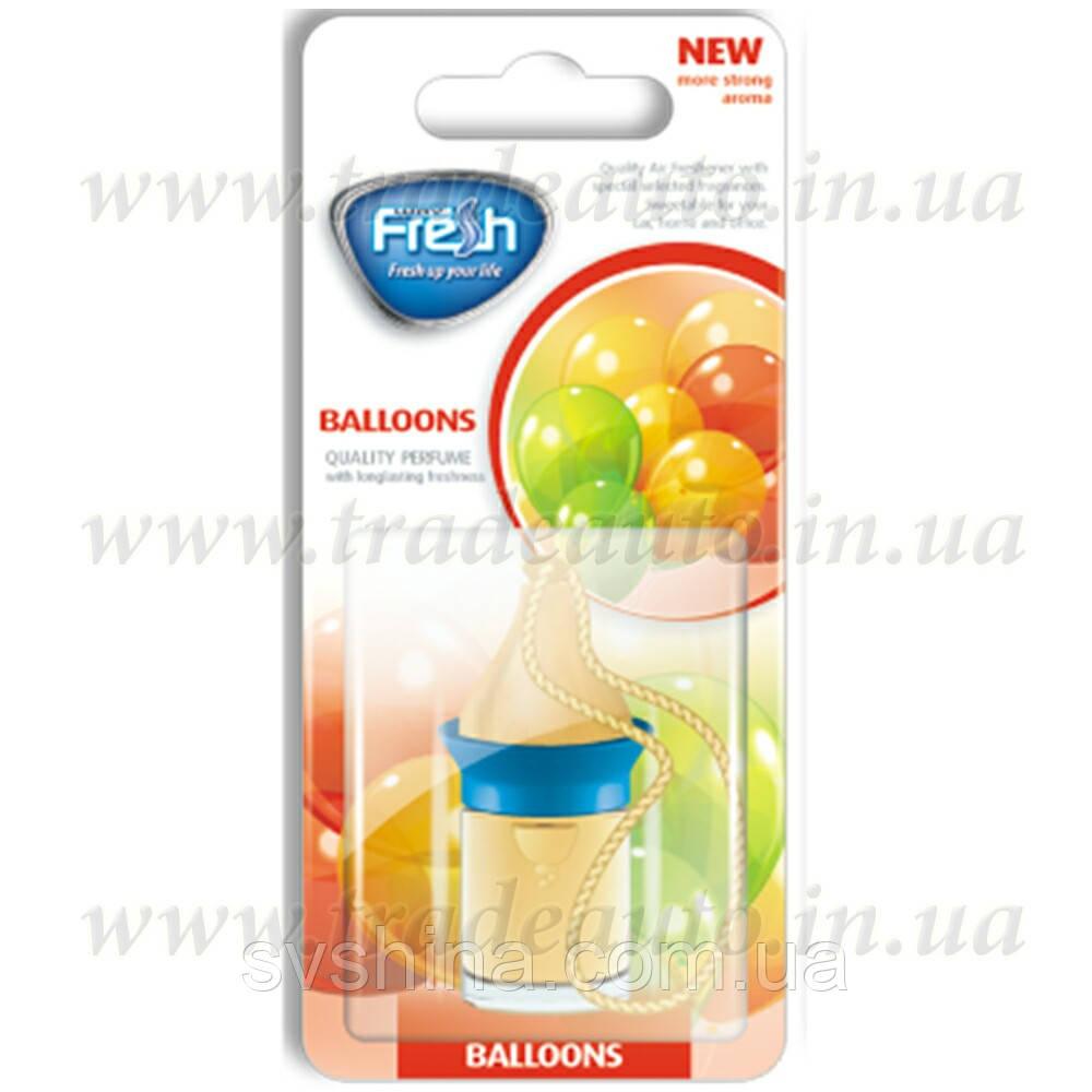 Ароматизатор корковий на дзеркало Fresh Wood Way Blister Bubble Gum/Balloons (Жувальна Гумка) 5