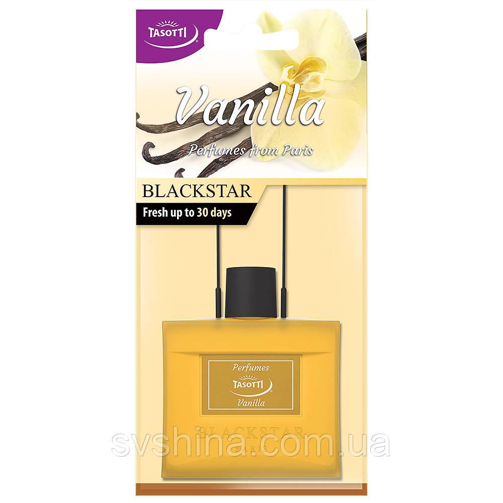 Ароматизатор сухий листочок Tasotti Black Star Vanilla (Ваніль)