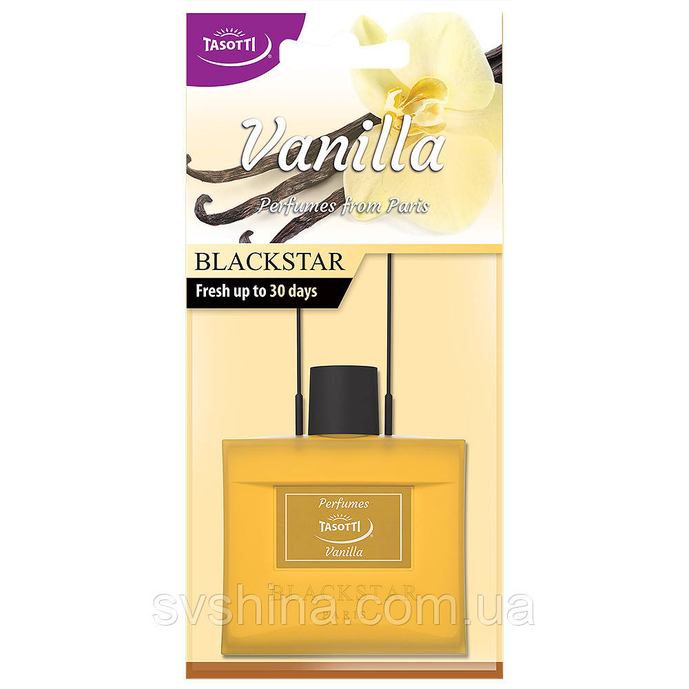Ароматизатор сухой листик Tasotti Black Star Vanilla (Ваниль)