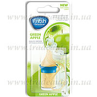Ароматизатор пробковый на зеркало Fresh Way Wood Blister Green Apple (Зеленое Яблоко) 5ml