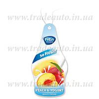 Ароматизатор сухий листочок Fresh Way Dry So Fresh Peach and Yogurt (Персик і Йогурт)