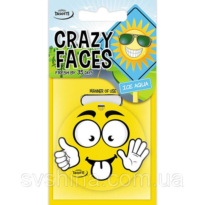 Ароматизатор сухий листочок Tasotti Crazy Faces Ice Aqua (Крижана Вода)
