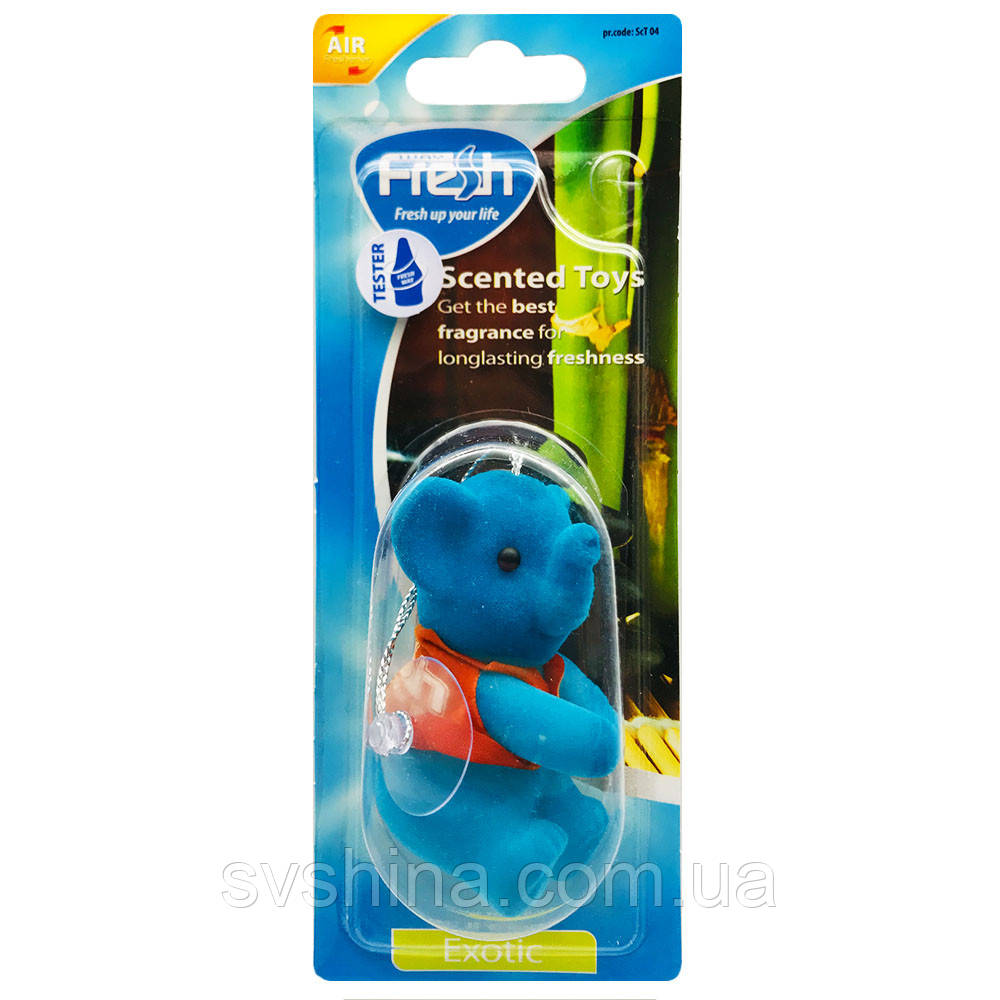 Ароматизатор игрушка на зеркало Fresh Way Toys Exotic (Экзотика)