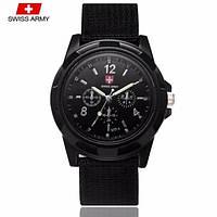 Мужские кварцевые часы Swiss Army Черные