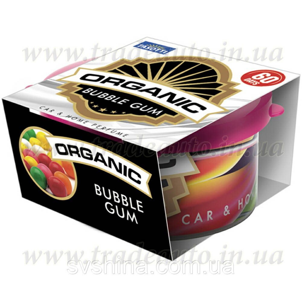 Ароматизатор консерва Tasotti Organic Bubble Gum (Жувальна Гумка) 42g