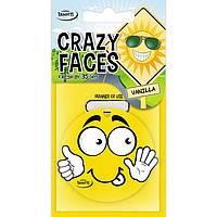Ароматизатор сухий листочок Tasotti Crazy Faces Vanilla (Ваніль)