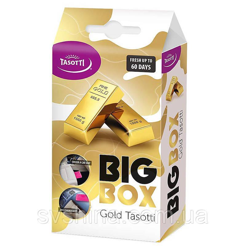 Ароматизатор під сидіння Tasotti Big Box Gold (Золото) 58g