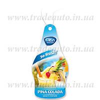 Ароматизатор сухий листочок Fresh Way Dry So Fresh Pina Colada (Піна Колада)