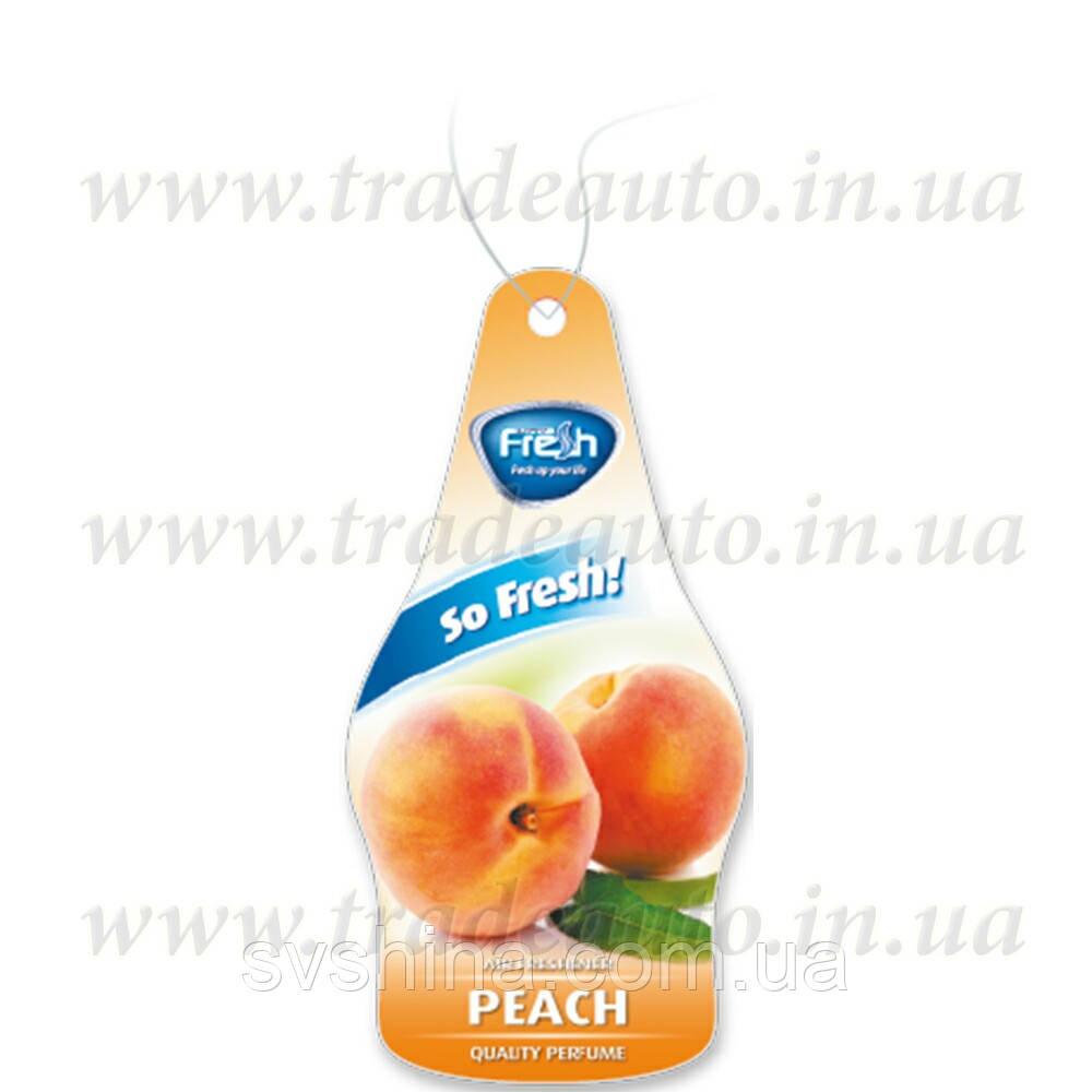 Ароматизатор сухий листочок Fresh Way Dry So Fresh Peach (Персик)