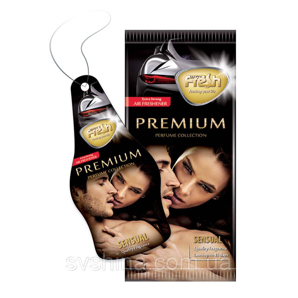 Ароматизатор сухий листочок Fresh Way Premium Dry Sensual (Чуттєвість)