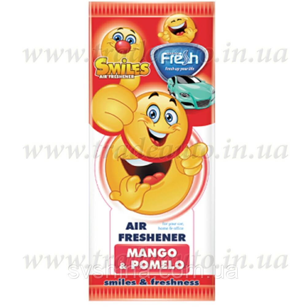 Ароматизатор сухий листочок Fresh Way Smiles Dry Mango and Pomelo (Манго і Помело)