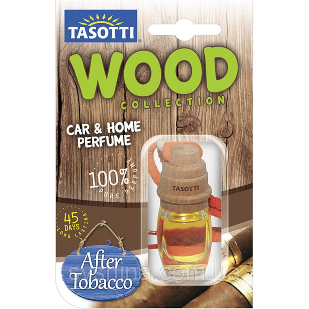 Ароматизатор корковий на дзеркало Tasotti Wood After Tobacco (Анти Тютюн) 7ml