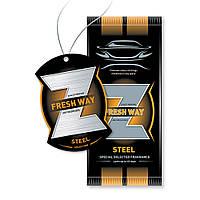 Ароматизатор сухой листик Fresh Way Z Dry Steel (Сталь)