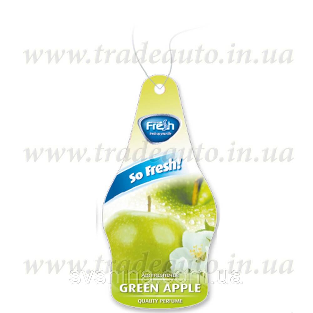 Ароматизатор сухой листик Fresh Way Dry So Fresh Green Apple (Зеленое Яблоко)