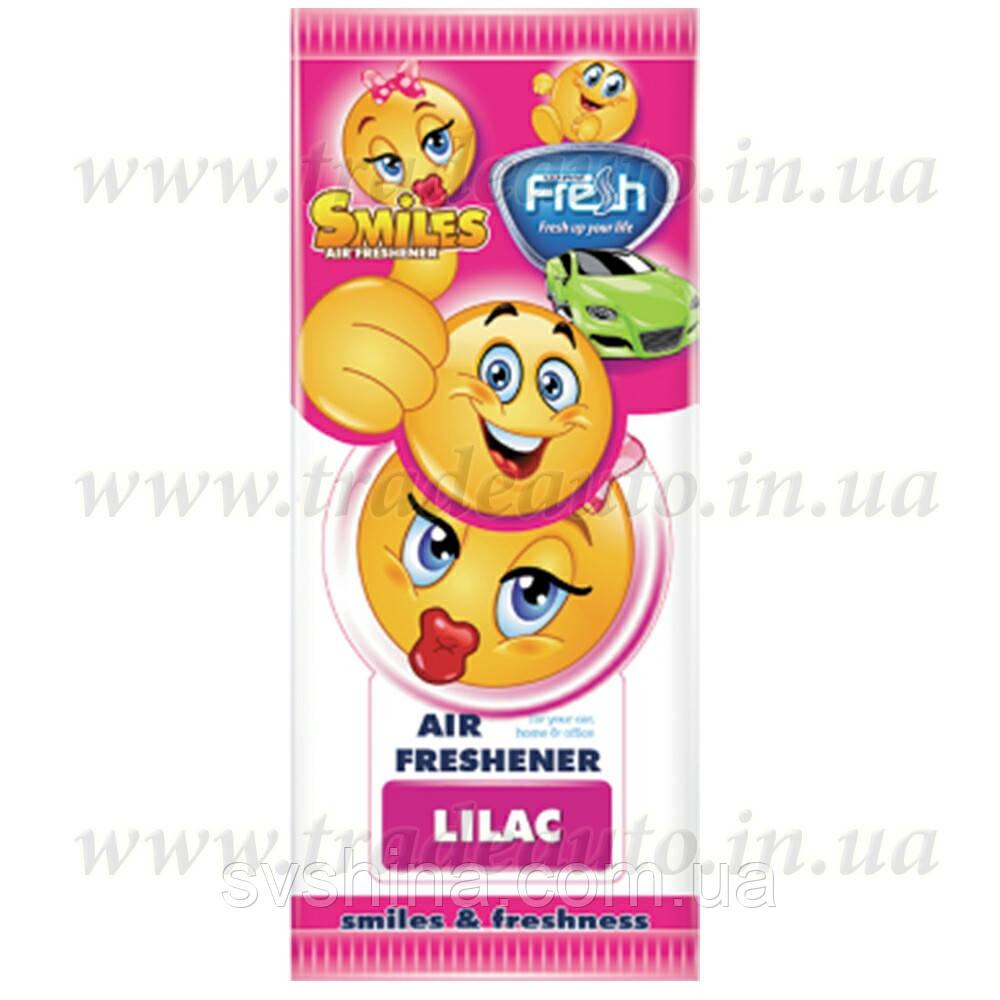 Ароматизатор сухий листочок Fresh Way Smiles Dry Lilac (Бузок)