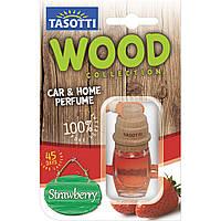 Ароматизатор корковий на дзеркало Tasotti Wood Strawberry (Полуниця) 7ml