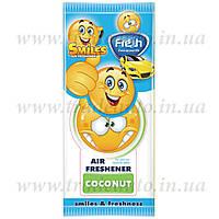 Ароматизатор сухой листик Fresh Way Smiles Dry Coconut (Кокос)
