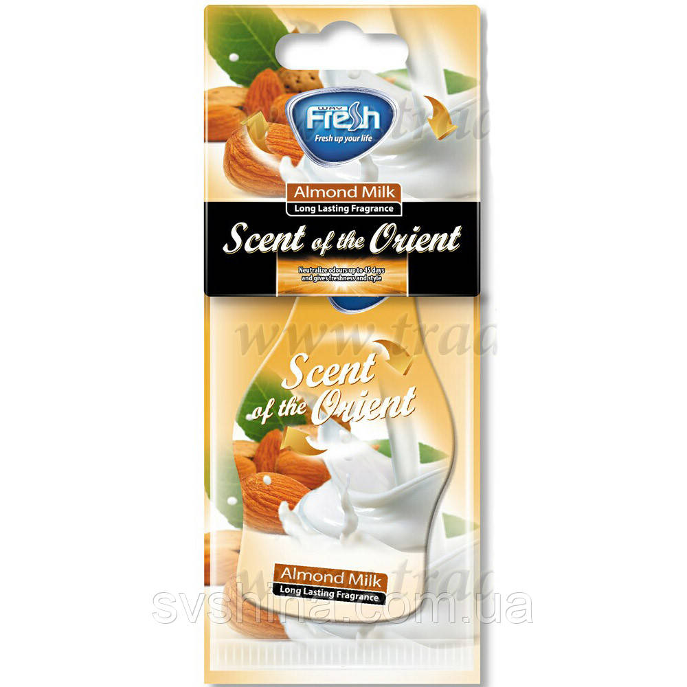 Ароматизатор сухой листик Fresh Way Orient Dry Almond Milk (Миндальное Молоко)